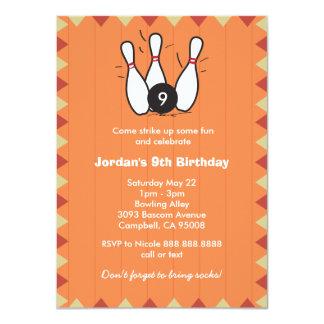 Kindes oder Erwachsen-Bowlings-Geburtstags-Party 11,4 X 15,9 Cm Einladungskarte