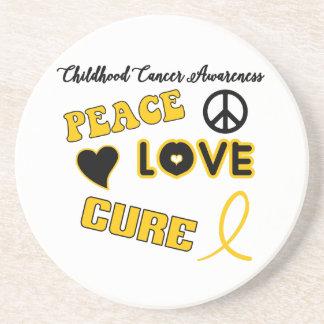 Kindheits-Krebs-Bewusstsein Getränkeuntersetzer