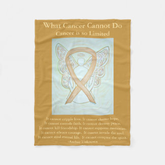 Kindheits-Krebs-Bewusstseins-Band-Engels-Decke Fleecedecke