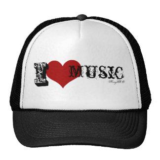 KingCEOs I Liebe Musik-Fernlastfahrer-Hut Tuckercaps