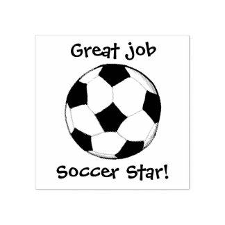 KiniArt Gewohnheits-Fußball Gummistempel