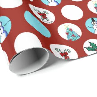 KiniArt verfolgt Schneemann-Weihnachten Geschenkpapier