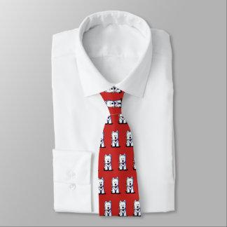 KiniArt Westie Terrier-Hals-Krawatte Bedruckte Krawatten