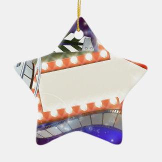 Kino-Film-Pfeil-Zeichen-abstrakter Hintergrund Keramik Ornament