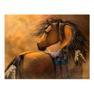 Kiowa Goldpostkarte Postkarte
