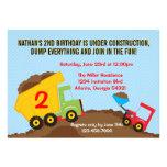 Kipper-Bau-Jungen-Geburtstags-Party Einladungen