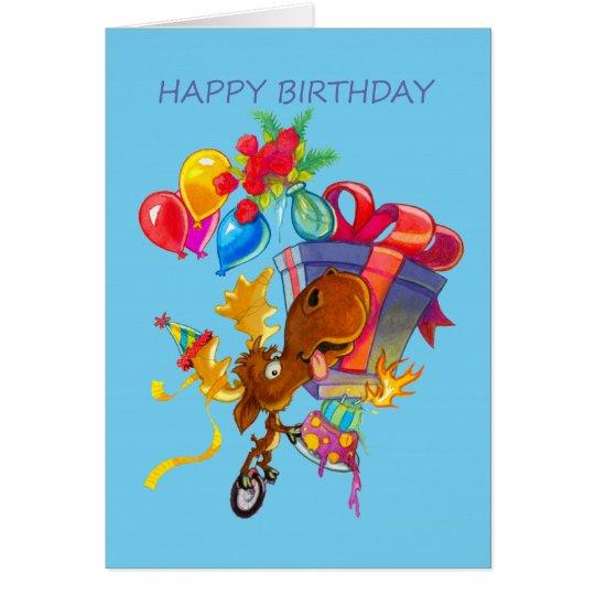 Kirby die Elche Vermoosin Geburtstags-Karte Grußkarte