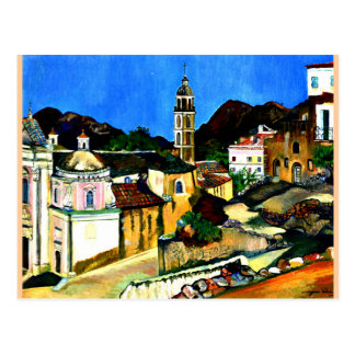 Kirche bei Belgodere, Korsika Postkarte
