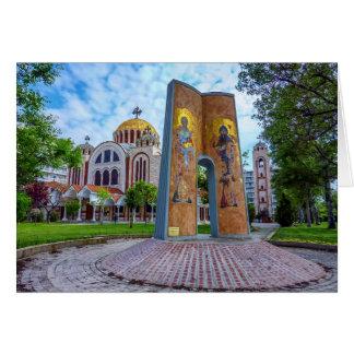 Kirche der Heiliger Cyril und Methodius in Grußkarte
