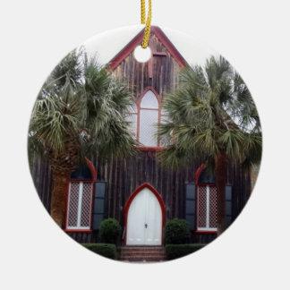 Kirche des Kreuzes - Bluffton, South Carolina Rundes Keramik Ornament