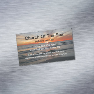 Kirche glauben Magneten Visitenkartenmagnet