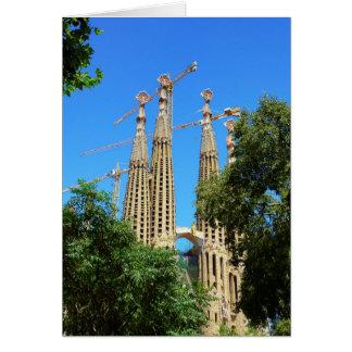 Kirche Sagrada Familia in Barcelona, Spanien Karte