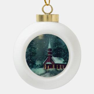 Kirche, Snowy-Weihnachtsdorf-Vintage Verzierung