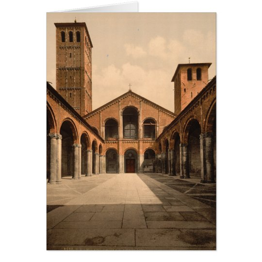 Kirche St. Ambrosius, Mailand, Lombardei, Italien Grußkarte