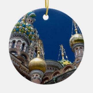 Kirche unseres Retters auf dem verschütteten Blut Rundes Keramik Ornament