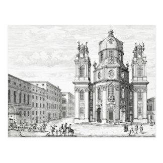 Kirche von Notre Dame, Salzburg, Österreich, von Postkarte