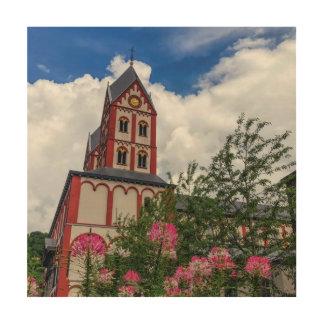 Kirche von St Bartholomew, Lüttich, Belgien Holzdruck