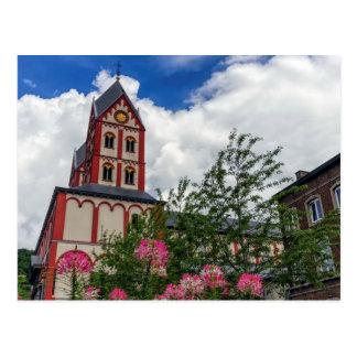 Kirche von St Bartholomew, Lüttich, Belgien Postkarte