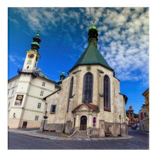 Kirche von St. Catherine, Banska Stiavnica, Acryldruck