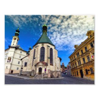 Kirche von St. Catherine, Banska Stiavnica, Fotodruck