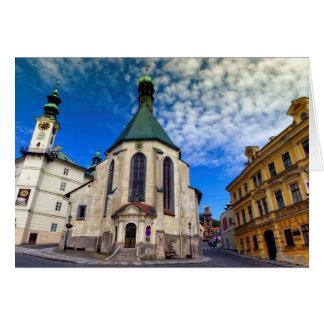 Kirche von St. Catherine, Banska Stiavnica, Grußkarte