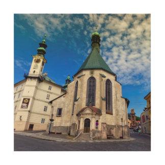 Kirche von St. Catherine, Banska Stiavnica, Holzleinwand