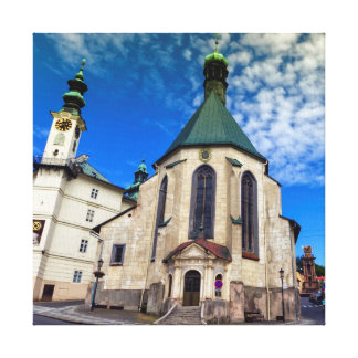 Kirche von St. Catherine, Banska Stiavnica, Leinwanddruck