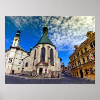 Kirche von St. Catherine, Banska Stiavnica, Poster