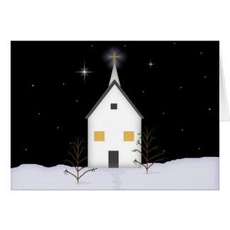 Kirchen-niedrige Grußkarte