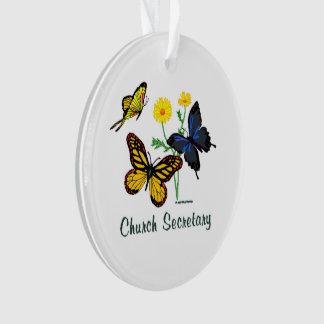 Kirchen-Sekretär Butterflies Ornament