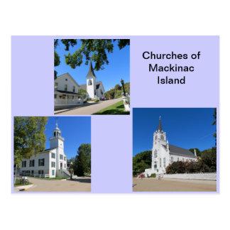 Kirchen von Mackinac Insel Postkarte