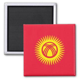 Kirgisistan - Kyrgyz Flagge Quadratischer Magnet