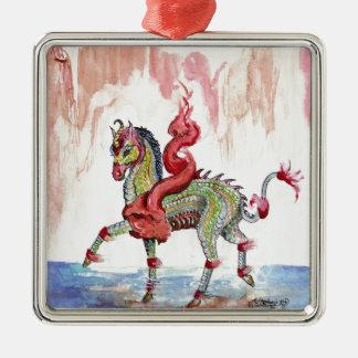 Kir'rin Ki'lin Drache-Einhorn-Fee-Pferd Silbernes Ornament