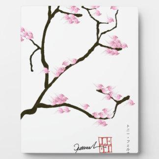 Kirschblüte-Blüte mit rosa Vögeln, tony fernandes Fotoplatte