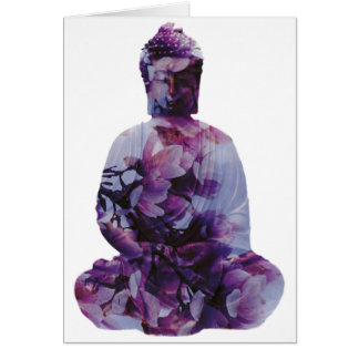 Kirschblüte Buddha Karte