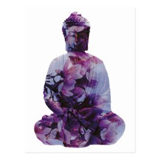 Kirschblüte Buddha Postkarte