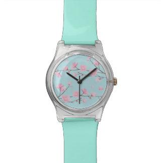 Kirschblüte - Himmel-Blau Armbanduhr