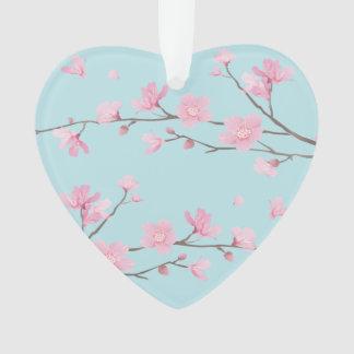 Kirschblüte - Himmel-Blau - GLÜCKLICHER JAHRESTAG Ornament