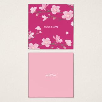 Kirschblüte Quadratische Visitenkarte