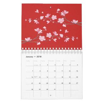 Kirschblüte - Rot Abreißkalender