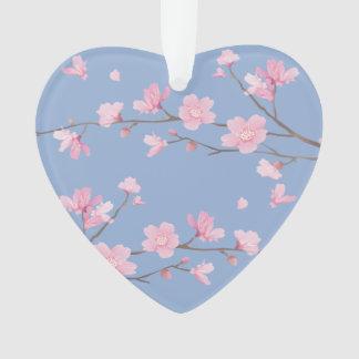 Kirschblüte - Ruhe-Blau - GLÜCKLICHER JAHRESTAG Ornament
