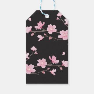Kirschblüte - Schwarzes Geschenkanhänger