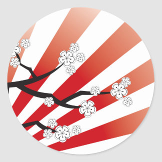 Kirschblüte-Sonnenaufgang-weißer Kirschblüten-Blum Stickers