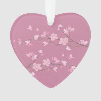 Kirschblüte - transparent - gerade verheiratet ornament