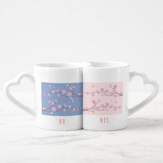 Kirschblüte - transparent - Hochzeit Liebestassen