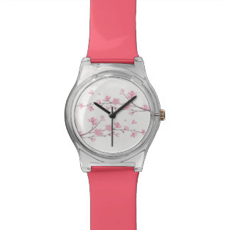 Kirschblüte - transparenter Hintergrund Uhr