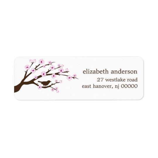 Kirschblüten-Adressen-Etiketten