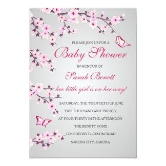Kirschblüten-Babyparty-Einladungs-Karte Karte