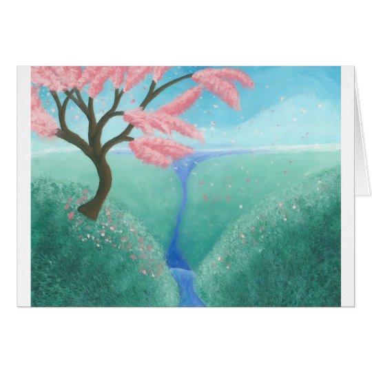 Kirschblüten-Baum Grußkarte