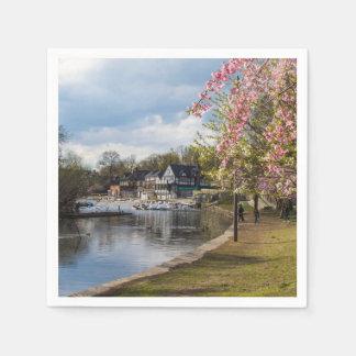 Kirschblüten, Boathouse-Reihe, Philadelphia Papierservietten